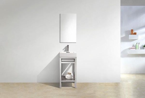 "Cisco 16"", Kube Chrome Modern Bathroom Vanity"