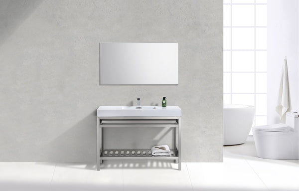 "Cisco 48"", Kube Chrome Modern Bathroom Vanity"