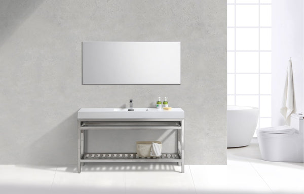 "Cisco 60"", Kube Chrome Modern Bathroom Vanity"