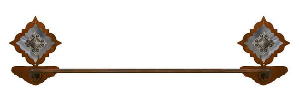 "Diamond Silver Concho 27"" Towel Bar"