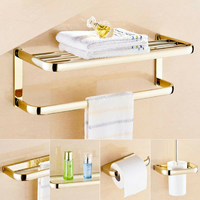 Brass Gold Bathroom Accessory Set