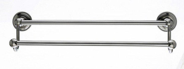 "18"" Double Towel Bar With Beaded Detail In Brushed Satin Nickel"