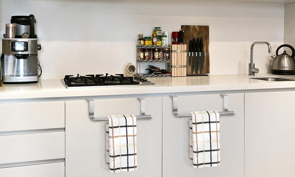 Over the Cabinet Door/Drawer Kitchen Towel Bars