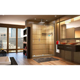 Mirage-X 44-48 in. W x 72 in. H Frameless Sliding Shower Door, Right Wall Installation