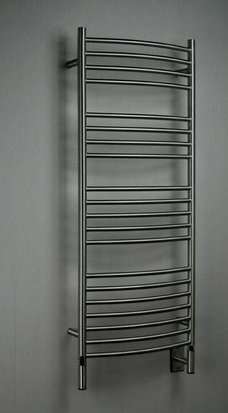 Amba Jeeves D Curved Towel Warmer - DCB Brushed