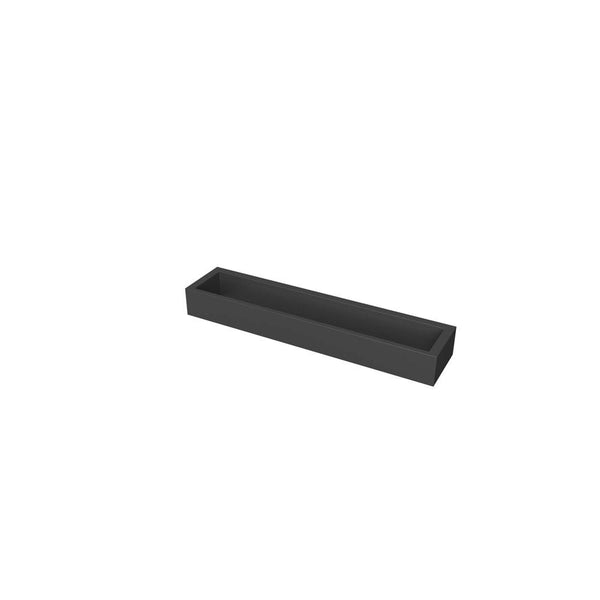 "Erupt 12"" Towel Bar, Matte Black, Volkano Series"