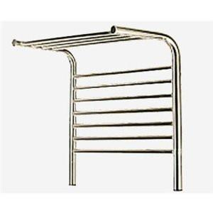 Amba Jeeves M Shelf Straight Towel Warmer - MSB Brushed