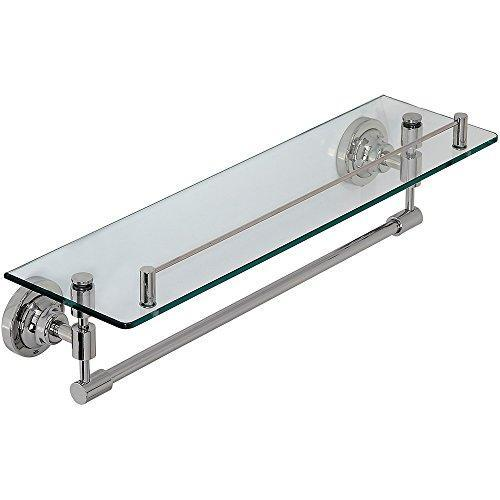 Classical Design Polished Chrome Glass Shelf