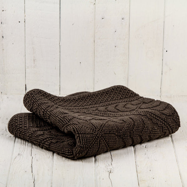 "Brown Cotton Bath Mat (43"" x 21"")"
