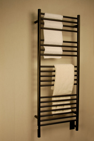 Amba Jeeves D Straight Towel Warmer - DSO Oil Rubbed Bronze