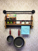 Wall Spice Rack with towel Bar-Wall Spice Rack