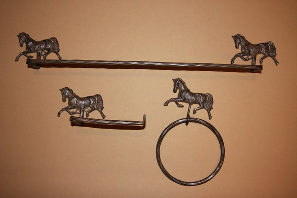 Country Western Bath Accessory set, free shipping, ready to paint, cast iron, horse bathroom decor, equestrian, BA-4-5-6