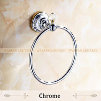 Crystal Copper Chrome Gold Bronze Finished Towel RingTowel HolderTowel Bar Bathroom Accessories Useful For Bathroom 6311