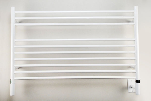 Amba Jeeves L Straight Towel Warmer - LSW White