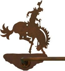 "Bronc Rider Design 18"" Hand Towel Bar"
