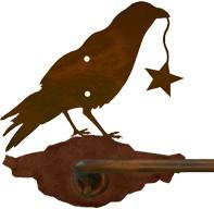 "Crow with Star Design 27"" Towel Bar"