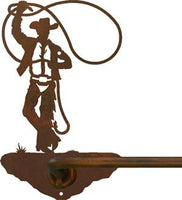 "Roping Cowboy Design 27"" Towel Bar"
