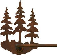 "Triple Pine Tree 18"" Hand Towel Bar"