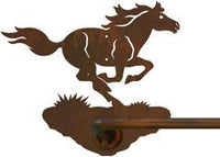 "Wild Horse Design 18"" Hand Towel Bar"