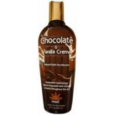 Most CHOCOLATE and VANILLA CREME Natural Dark Accelerator 8.5 oz