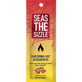 1 packet Seas The Sizzle SWELTERING HOT ACCELERATOR w/Tattoo Color Shield .75 oz TOP SELLER!