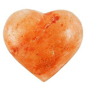 Get Salted Massage Stone Heart Shaped 100% Natural Himalayan Crystal Salt NEW!