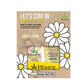 Hempz Hand & Body Let's Stay In Manicure Kit 2 Count & Free Nail File