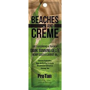 1 packet Beaches & Creme Ultra Dark Gelee with Hemp & Tyrosine .75oz