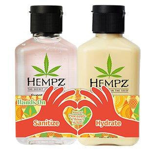 Hempz Hands On Sweet Pineapple & Honey Melon Hand Sanitizer & Moisturizer Mini Set