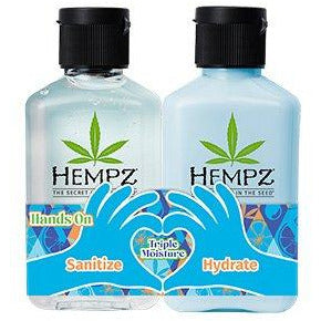 Hempz Hands On Triple Moisture Hand Sanitizer & Moisturizer Mini Set
