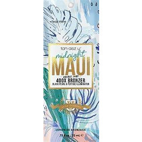 1 packet Midnight Maui Double Shot 400X Bronzer Black Pearl & Peptide Illuminator .75oz