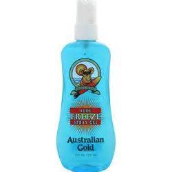 Australian Gold Aloe Freeze SPRAY Gel 4 sunburn relief  8oz