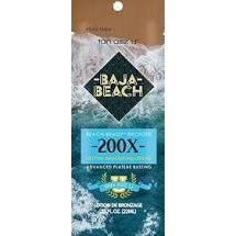 1 packet Baja Beach 200X Advanced Plateau Busting Bronzer .75oz