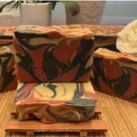 1 free Dragons Blood Unisex Artisan Hand & Body Soap sample size