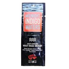 1 packet Midnight Indigo Waters  Color Correcting Violet Based Bronzer .75oz
