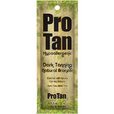 1 packet Pro Tan Hypoallergenic Natural Bronzer Sensative Skin Formula .75oz