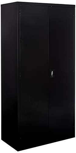 Lorell LLR41308 Fortress Series Storage Cabinets, Black
