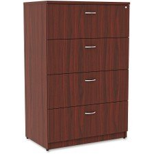 Lorell 34386 Essentials Lateral File, Mahogany Laminate