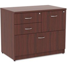 Lorell 69541 Prominence Lateral File, Mahogany Laminate Top