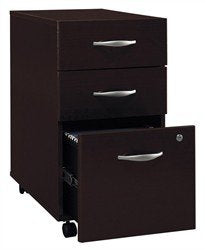 Fully Assembled Three Drawer File Cabinet on Casters - Series C
