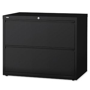 Lorell 2-Drawer Lateral File, 42 by 18-5/8 by 28-1/8-Inch, Black