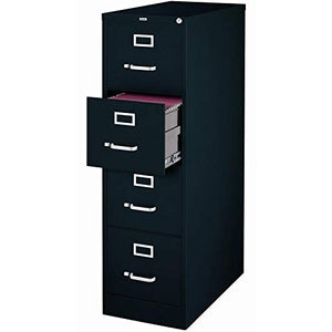"(Pack of 3) Hirsh 22"" Deep Commercial Grade 4 Drawer Vertical Letter File Cabinet in Black"