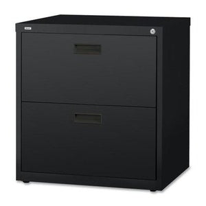 Lorell 2-Drawer Lateral File, 30 by 18-5/8 by 28-1/8-Inch, Black