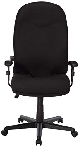 Mayline 9413AG2113 Comfort Series Executive High Back Chair with T-Pad Arms, Black