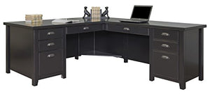 Martin Furniture Tribeca Loft L-Shaped Computer Desk, Black