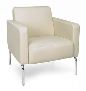 OFM 3002-PU609 Triumph Series Modular Lounge Chair, Armless, Cream