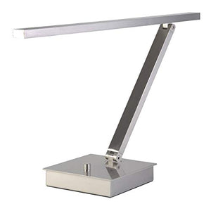"Desk Lamps 1 Light Fixtures with Brushed Steel Finish Metal Material SSL Type 7"" 6.3 Watts"