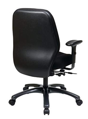 Office Star High Intensity Use Ergonomic Chair with 2-To-1 Synchro Tilt, Black