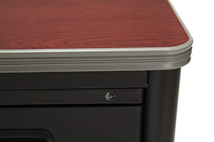OFM Mesa Series Steel Teacher's Desk with Laminate Top, 3-Drawer Single Pedestal, in Cherry (66348-CHY)