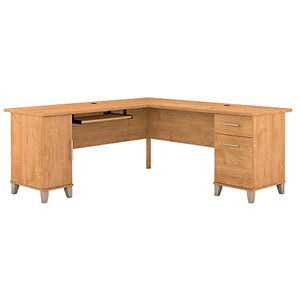 Bush Furniture Somerset 71W L Shaped Desk, Maple Cross